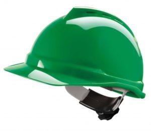 Каска строительная V-gard 500 зеленая